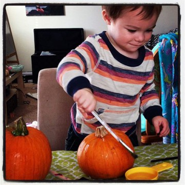 jameson painting pumpkin